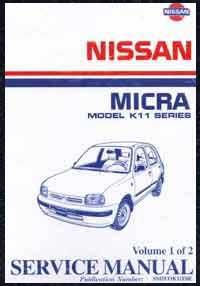 Nissan Micra K11 Series 1995 On Factory Service Repair Manual