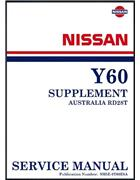 Nissan Patrol GQ Series Y60 1995 Factory Engine Supplement - Front Cover