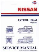 Nissan Patrol MQ 160 - 61 1985 Repair Supplement 3 - Front Cover