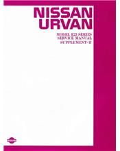 Nissan Urvan E23 Series 1985 Service & Repair Manual Supplement 2