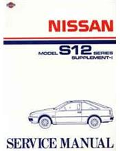 Nissan Gazelle (S12) 1985 Factory Service Manual Supplement-1