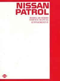 Nissan Patrol MQ 160 - 61 1986 Factory Repair Manual Supplement 4 - Front Cover