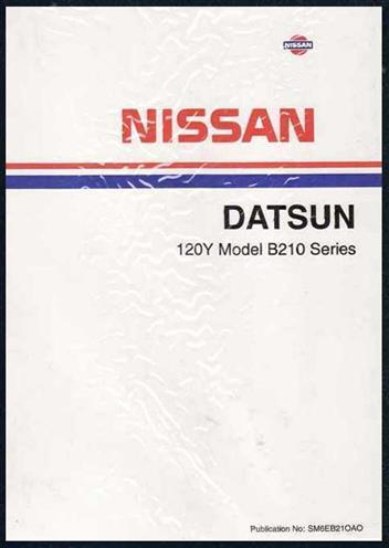Nissan Datsun 120Y 1976 Factory Workshop Manual - Front Cover