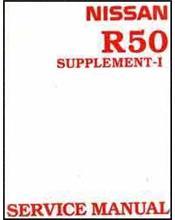 Nissan Pathfinder R50 1996 Factory Repair Manual Supplement 1
