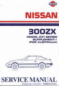 Nissan 300ZX (Z31) 1986 Factory Workshop Manual Supplement 1 - Front Cover