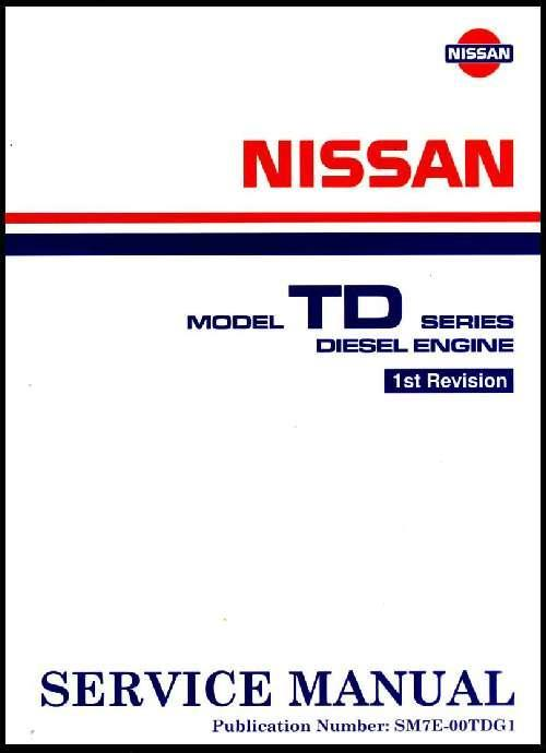 Nissan TD Series Diesel Engine Factory Service Manual Supplement - Front Cover