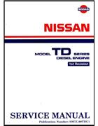 Nissan TD Series Diesel Engine Factory Service Manual Supplement