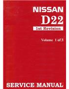 Nissan Navara (D22) 1997 Factory Service Manual : 3 Volumes - Front Cover
