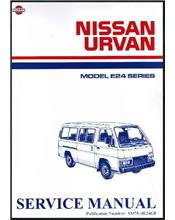 Nissan Urvan E24 Series Petrol 1986 on Factory Service & Repair Manual