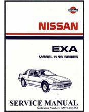 Nissan Pulsar EXA N13 1987 Factory Service & Repair Manual