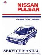 Nissan Pulsar N13 Series 1987 - 1991 Factory Service & Repair Manual