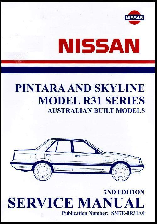 Nissan Pintara and Skyline R31 1986 Factory Service & Repair Workshop Manual - Front Cover