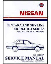 Nissan Pintara and Skyline R31 1986 Factory Service & Repair Workshop Manual