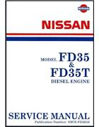 Nissan Cabstar & Civilian FD35 / FD35T Diesel Engine Factory Service Manual - Front Cover