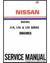Nissan L14, L16, L18 Petrol Engine Factory Service & Repair Manual Supplement