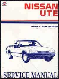 Nissan XFN Series Ute 1988 (Ute Only) Factory Service & Repair Manual - Front Cover