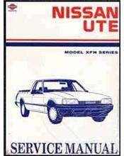 Nissan XFN Series Ute 1988 (Ute Only) Factory Service & Repair Manual