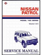 Nissan Patrol GQ Y60 1988 Factory Repair Manual: 2 Volume Set - Front Cover