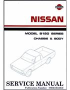 Nissan B120 Series (1200) Chassis & Body Factory Workshop Manual - Front Cover