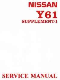 Nissan Patrol GU Y61 Series 1999 Repair Manual Supplement 1 - Front Cover