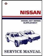 Nissan Navara D21 Pickup 1989 Factory Repair Manual Supplement 4 - Front Cover