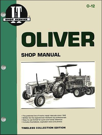 Oliver Petrol Farm Tractor Owners Service & Repair Manual - Front Cover