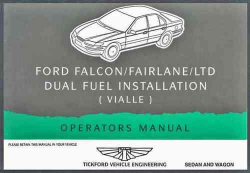 Ford Falcon EL LPG Factory Owners Supplement Handbook