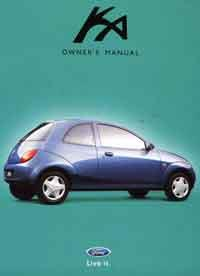 Ford KA 2000 Owners Handbook Kit - Front Cover