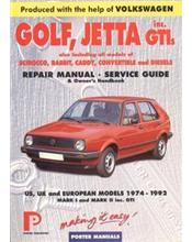 Volkswagen Golf, Jetta inc. GTIs 1974 - 1992 Repair Manual and Service Guide