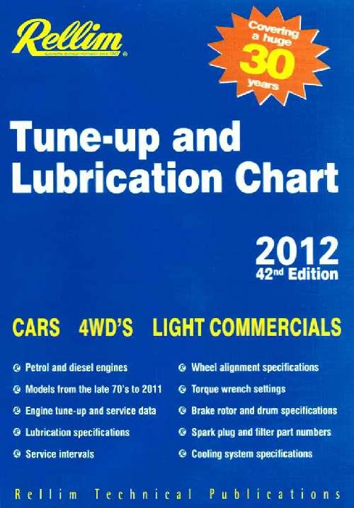 Rellim Tune-Up & Lubrication Chart 2012 CD ROM - Front Cover