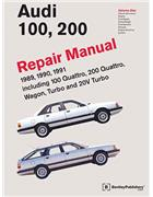 Audi 100, 200 1989 - 1991 Repair Manual : 3 Volume Set