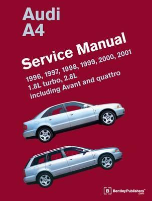 Audi A4 1996 - 2001 Service Manual - Front Cover