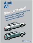 Audi A4 (B6, B7) 2002 - 2008 (Including Avant and Cabriolet) Service Manual