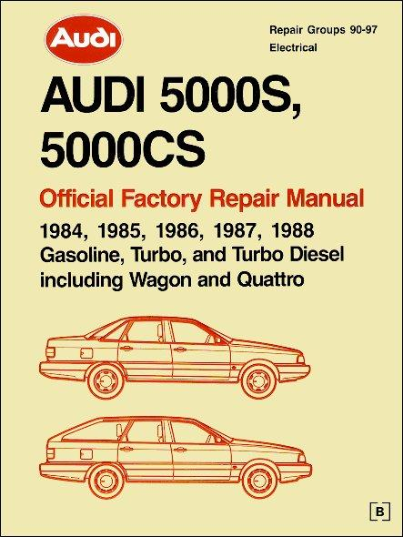 Audi 5000S, 5000CS 1984 - 1988 Repair Manual : 2 Volume Set