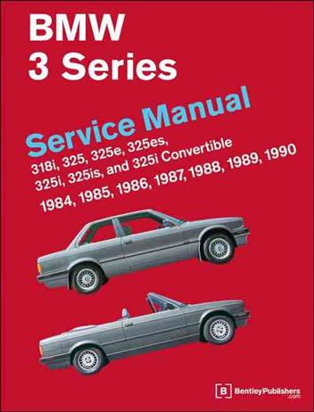 BMW 3 Series (E30) 1984 - 1990 Service Manual - Front Cover