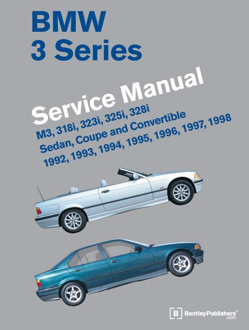 BMW 3 Series (E36) 1992 - 1998 Service Manual - Front Cover