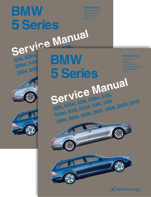 BMW 5 Series (E60, E61) 2004 - 2010 Service Manual : 2 Volume Set