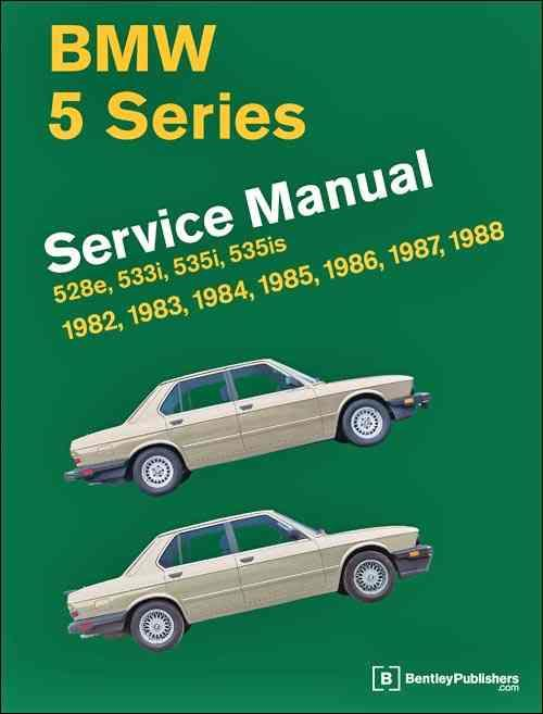 BMW 5 Series (E28) 1982 - 1988 Service Manual - Front Cover
