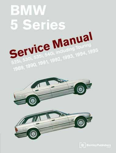 BMW 5 Series (E34) 1989 - 1995 Service Manual - Front Cover