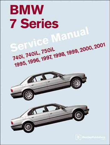 BMW 7 Series (E38) 1995 - 2001 Service Manual - Front Cover
