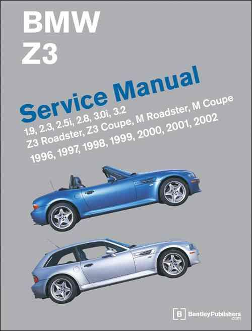 BMW Z3 1996 - 2002 Service Manual - Front Cover