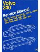 Volvo 240 1983 - 1993 Owners Service & Repair Manual - Front Cover