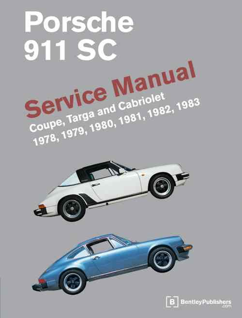 Porsche 911 SC 1978 - 1983 Owners Service & Repair Manual - Front Cover