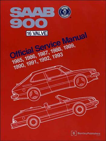Saab 900 16 Valve 1985 - 1993 Owners Service & Repair Manual - Front Cover