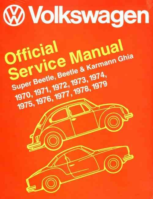 Volkswagen VW Super Beetle, Beetle & Karmann Ghia (Type 1) 1970 - 1979 - Front Cover