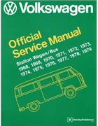 Volkswagen Station Wagon / Bus (Type 2) 1968 - 1979 Service Manual - Front Cover
