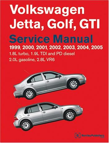 Volkswagen Jetta, Golf & GTI 1999 - 2005 Service Manual - Front Cover