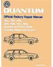 Volkswagen Quantum 1982 - 1988 Owners Service & Repair Manual