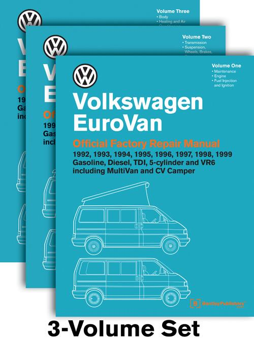 Volkswagen EuroVan (Transporter) 1992 - 1999 Repair Manual - Front Cover Volume 1