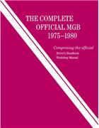 The Complete Official MGB 1975 - 1980 Owners Service & Repair Manual - Front Cover